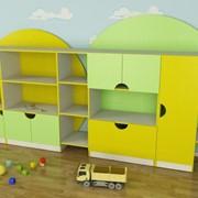 Стенка детская для игрушек Планета фото