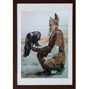 Картина БЕРКУТЧИ - пастель, оригинальный подарок, авторская работа фото