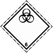 Знак класс опасности 6, Подкласс 6.2 Наклейка / табличка фото