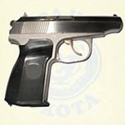 Пистолет МР-80-13Т (.45 Rubber) никель ОООП фото