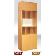 Журнальный шкаф купить, Шкаф для журналов и книг с антресолью 802*403*2186 мм (380 мм внутри), Код: 0679 фото