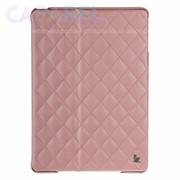 Чехол JisonCase Quilted Leather Cover Pink для iPad Air фото