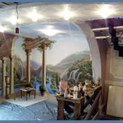 Роспись стен акрилом фото