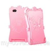 "Чехол ""ANNA SUI"" для iPhone 4/4S, светло-розовый фото"