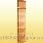 Приставка к шкафу с закругленными полками, с антресолью 403х403х2186 мм., 0646+0656 фото