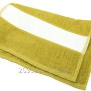 Полотенце 50х100см махровое зелёное(бордюр под нанесение 12см) фото