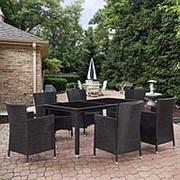 Комплект плетеной мебели T246A/Y189D Black 6Pcs фото
