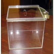 Ящик для сбора пожертвований из оргстекла фото