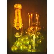 Голограмма художественная Шампанское и виноград фото