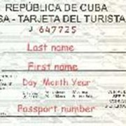 Виза на Кубу фото