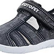 421025-12 черный туфли летние дошкольные текстиль Р-р 28 фото