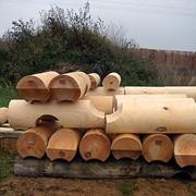 Изготовление оцилиндрованной древесины фото