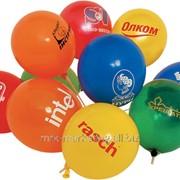 Нанесение логотипа корпоративного на воздушные шары фото