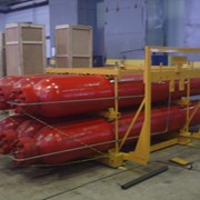 Блок аккумуляторный метан для АГНКС предназначен для накопления газа метан (воздуха) под давлением и использования его для заправки автомобилей, отопления помещений и любых других целях, производства Сумыгазмаш фото
