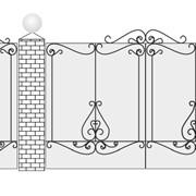 Ворота кованые Вк-10 глухие фото