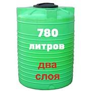 Резервуар для хранения гсм, питьевой воды и дизеля 780 литров, зеленый, верт фото