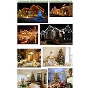 Новогоднее оформление дома и загородного коттеджа фото