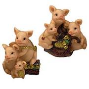 Сувенир Три поросёнка Семья свиней 9x11см фото