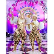 Зеркальные золотые Зайчики на встречу гостей фото