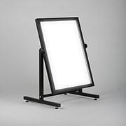 Т-60-48(черн) Зеркало напольное широкое, для примерки обуви, цвет черный фото