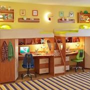 Детская комната Легенда 14 с полками ольха/венге светлый фото