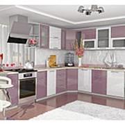 Кухонный гарнитур сиреневый металлик модульная система фото