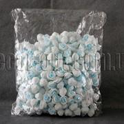 Головы бело-голубых роз d 3-3,5см из латекса 500 шт. 3290 фото