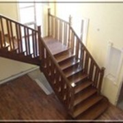 Деревянные шпонированные лестницы фото