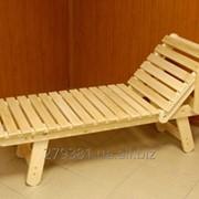 Шезлонг деревянный 200х60х30 фото