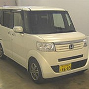Микровэн HONDA N BOX PLUS кузов JF1 класса минивэн модификация SS Package гв 2013 пробег 148 т.км белый жемчуг фото