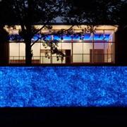 Горный хрусталь с подсветкой ,ланшафтный дизаин. фото