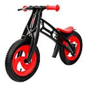Велобалансир-беговел Hobby-bike FLY А черная оса Plastic red/black А-шины елочка фото