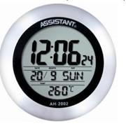 Часы настенные электрические Assistant, круглые, 203*34 мм, термометром, календарём фото