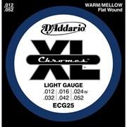 Струны для электрогитары D'Addario ECG25 XL Chromes Light (6 струн .12-.52) фото