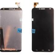 Дисплей для Alcatel OT-6037Y/6037K (Idol 2) в сборе с тачскрином (черный) фото