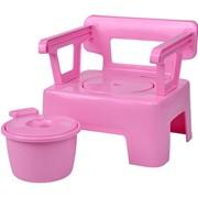 Стульчик горшок (детский) Розовый фото