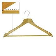 Вешалка плечики для одежды деревянные, с перекладиной, ширина 450мм, цвет светлое дерево. MD-WS 010 фото