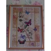 """Картина вышитая """"Китайские бабочки"""" фото"""