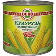 """Кукуруза """"DEKO"""" в/с ГОСТ ж/б 425мл 1x12, шт фото"""