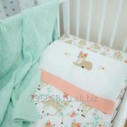 Детское постельное белье с вышивкой Оленята фото