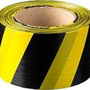 Лента оградительная ЛО-100, 75мм (черно-желтая) фото