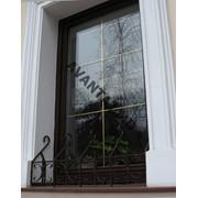 Окно из красного дерева, арт. 22 фото
