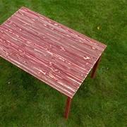 Стол из дерева под старину Бордовое лето фото