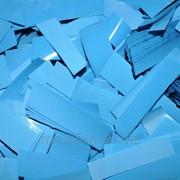 Конфетти-метафан голубой, праздничный декор фото
