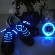 Светящиеся шнурки - синие / LED шнурки фото