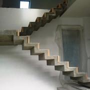 Двойной каркас бетонная лестница фото