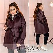 Куртка женская из эко-кожи (4 цвета) ОМ/-818 - Бордовый фото