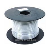 Канат стальной в пластиковой оболочке PVC 6мм/5мм 51111 фото