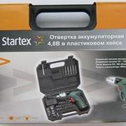 Аккумуляторная отвертка Startex в кейсе фото