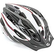 Шлем с сеточкой Rocca N 163 24отверстия бело-черно-красный 54-58см AUTHOR фото